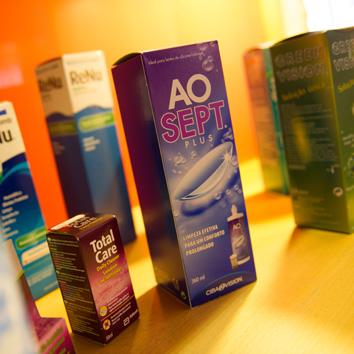 Produtos de manutenção das lentes de contacto